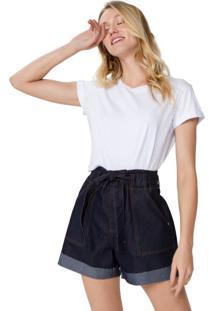 Shorts Jeans Amarração Cintura