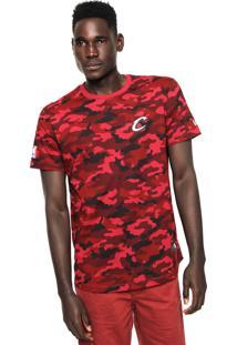 Camiseta New Era Militar Cleveland Cavaliers Vermelha