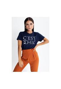 Camiseta Preview C'Ést Chic Azul Marinho