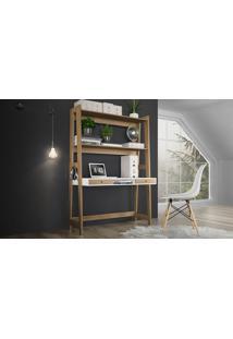 Escrivaninha Com Estante Hanover/Branco - Art26907 Hnbr.Dp - Artesano