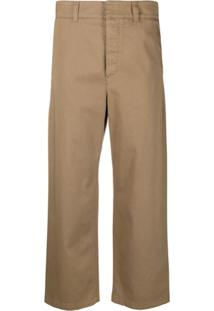 Department 5 Cropped Loose-Fit Trousers - Marrom