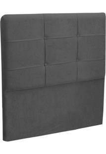 Cabeceira Solteiro Cama Box 90 Cm London Cinza - Js Móveis