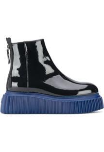 Agl Ankle Boot Envernizada - Azul