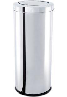 Lixeira Inox Basculante Decorline 30X60Cm Brinox 3032/205
