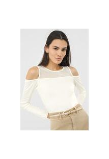 Blusa Malwee Off Shoulders Off-White