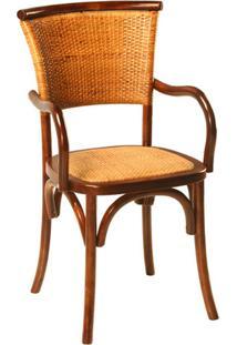 Cadeira Paris De Madeira Com Assento De Rattan
