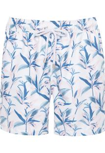 Bermuda Masculina Estampado - Off White