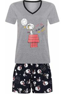 Conjunto De Pijama Feminino Estampado Peanuts - Dia Das Mães