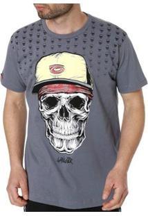 Camiseta Manga Curta Masculina Gangster - Masculino-Cinza