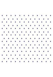 Adesivo De Parede Gotinhas Azul-Escuras Para Quarto 151Un Cobre 3M2
