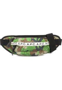 A.P.C. Pochete Com Estampa Camuflada - Verde