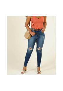 Calça Jeans Destroyed Skinny Feminina Disparate