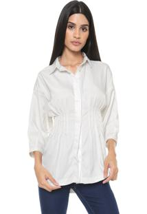 Camisa Colcci Pregas Off-White