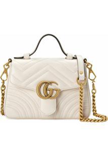 Gucci Bolsa Gg Marmont Mini - Branco