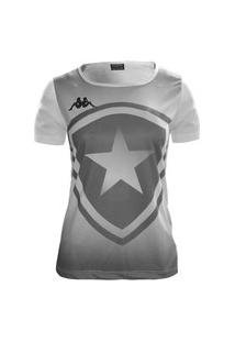 Camiseta Kappa Botafogo Escudo Feminina - Branco