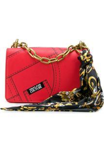 Versace Jeans Couture Bolsa Transversal Com Estampa - Vermelho