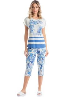Pijama Clarice Pescador - O373 Lilas/P