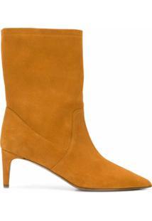 Red(V) Ankle Boot Bico Fino - Laranja