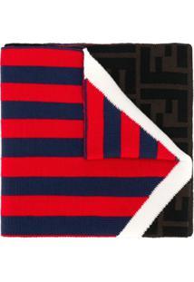 Fendi Cachecol De Tricô Com Logo - Vermelho