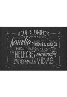 """Capacho """"Melhores Momentos""""- Preto & Branco- 60X40Cmkapazi"""