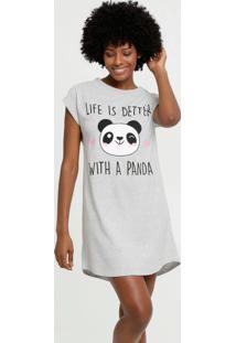 Camisola Feminina Listrada Estampa Panda Marisa
