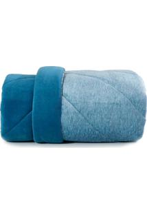 Edredom Queen Altenburg Blend Fashion Plush Concept Navy - Azul