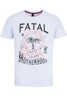 Camiseta Fatal Estampada 17701 - Masculina - Branco
