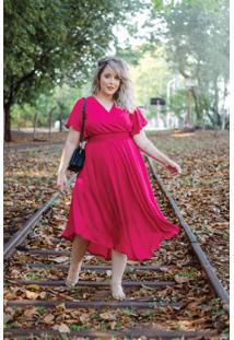 Vestido Liberty Pink Plus Size Domenica Solazzo
