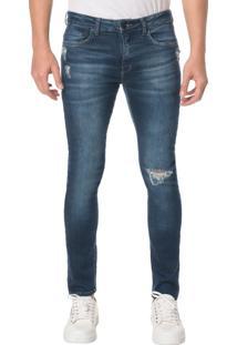 Calça Jeans Five Pocktes Skinny Ckj 016 Skinny - Marinho - 46