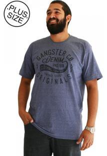 Camiseta Denim Plus Size Azul