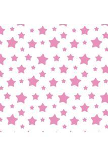 Papel Adesivo Sunset Adesivos De Parede Infantil Estrelas Rosas - Rolo 6,00 X0,50 M