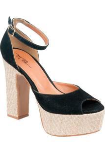 5372a2deb R$ 129,90. Compre de Boa Sapato M.Blanco Peep Toe Com Alça Preto 36