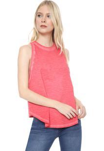 Regata Calvin Klein Jeans Assimétrica Rosa
