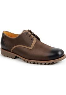 Sapato Social Masculino Derby Sandro Moscoloni Ioshua Marrom Escuro