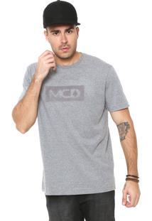 Camiseta Mcd Bordada Cinza
