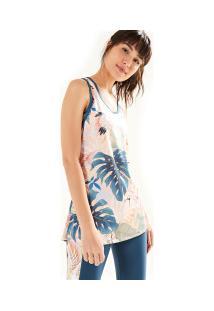 Camiseta Regata Farm Rio Xô Suor Brisa Doce - Feminina - Rosa Cla Azul Esc 91d6f007d462b