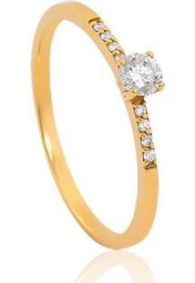 Anel Solitário De Ouro 18K Diamante 19 Pts Desire