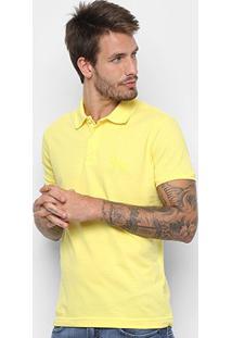Camisa Polo Acostamento Masculina - Masculino-Amarelo
