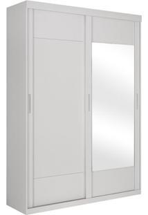 Armário Stone 2 Portas De Correr Sendo 1 C/ Espelho, Padrao - Branco