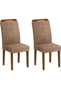 Cadeira Rufato Athenas Mdf Imbuia (2 Uni) Chocolate