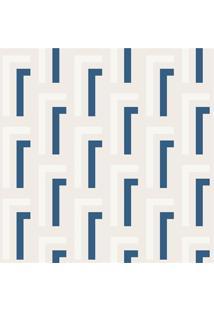 Papel De Parede 7232 Azul 52Cm Com 10 Metros