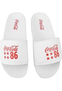 Chinelo Coca-Cola Slide Velcro 86 Star Masculino - Masculino
