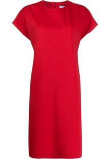 Harris Wharf London Vestido Reto Com Gola Redonda - Vermelho
