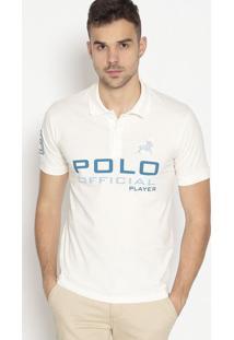 """Polo """"Oficial Player""""- Off White & Azulclub Polo Collection"""