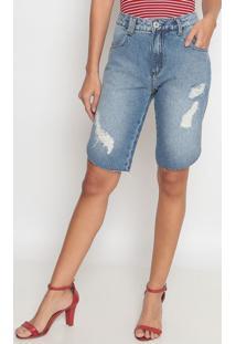 Bermuda Jeans Com PuãDos- Azul- Tritontriton