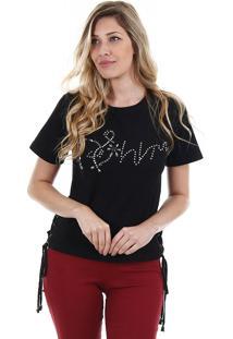 Camiseta Feminina Facinelli - Preto