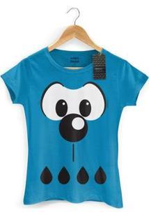 Camiseta Bandup! Feminina Turma Da Mônica Kids Olhões Bidu - Feminino-Azul