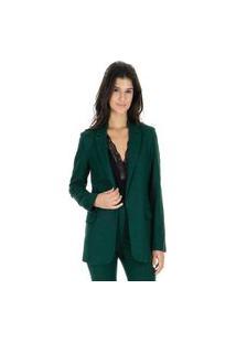 Blazer Tweed Liso Alongado