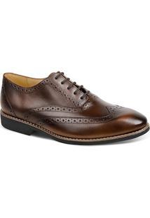 Sapato Masculino Linha Premium Oxford Sandro Moscoloni 16333 Marrom Escuro