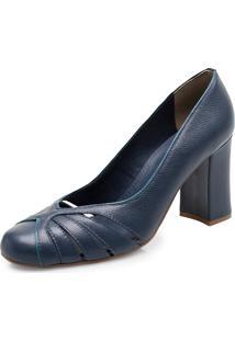 Scarpin Corello Classic Recortes Azul
